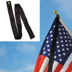 black mourning ribbon for attachment to U.S. or unit flag