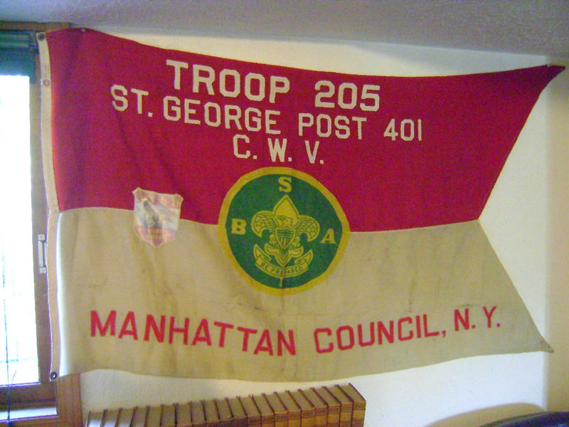 Example of a Boy Scout Troop flag used in the 40s/early 50s
