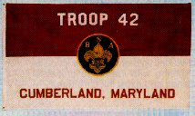 Boy Scout Troop flag  (with lettering)