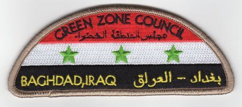 official Green Zone Council shoulder patch