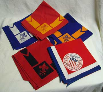 Shown are various types of neckerchiefs