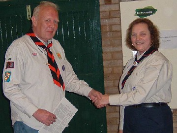 Wearing the Wood Badge (unit Scouter)