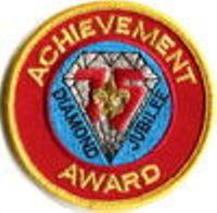 75th Anniversary Achievement Award pocket emblem