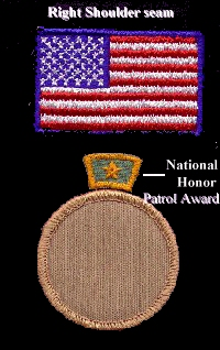 National Honor Patrol Award location
