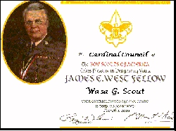 James West Fellowship Certificate