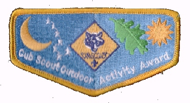 Cub Scout Outdoor Activity Award emblem