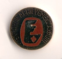 the Explorer Achivement Award pin (submitted by Mike Walton)