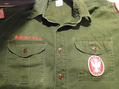 SCOUT BSA strip worn on Leadership Corps members' uniform (provided by Stephen Everson)