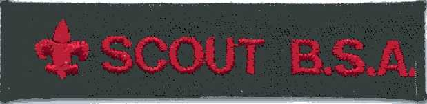 SCOUT BSA strip used in the place of the Explorer strip on Leadership Corps members' uniforms