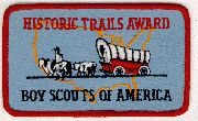 Historic Trails Award cloth patch