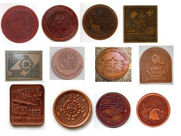 Examples of National Jamboree leather insignia, which is also equipment decoration.