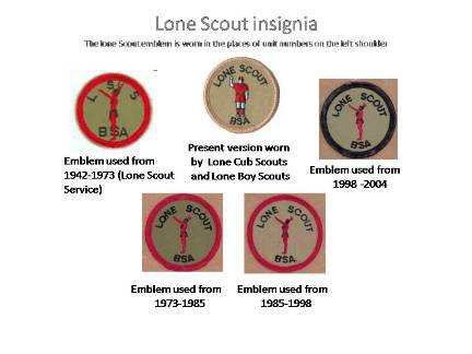 Versions of Lone Scouting emblems