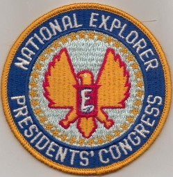 National Explorer Presidents' Congress emblem; this is the 4-inch version but there was also an 8-inch version