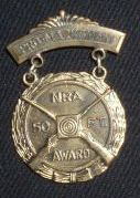 example of NRA medal and patch
