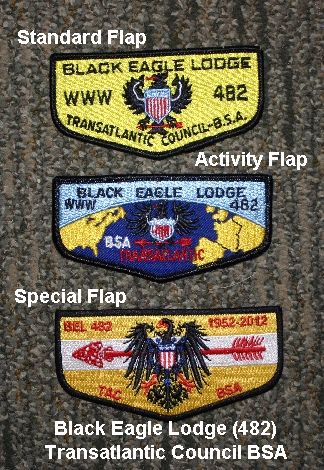 standard, activity, and special OA flaps from a particular Lodge. Either of these may be worn.