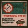 A Wood Badge staff patch