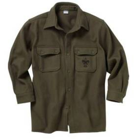 The BSA''s olive green jac-shirt. I don't have a photo of the backside.