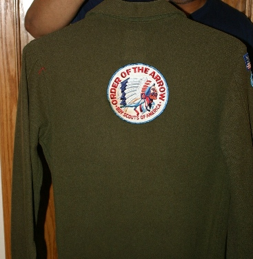 An example of a MILITARY green jac-shirt (back)